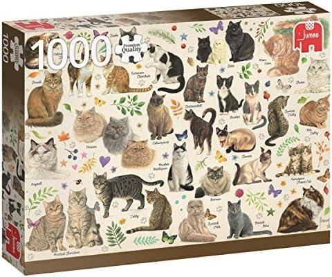 Jumbo- Poster de Gatos Puzzle de 1000 Piezas (18595.0): Amazon.es ...