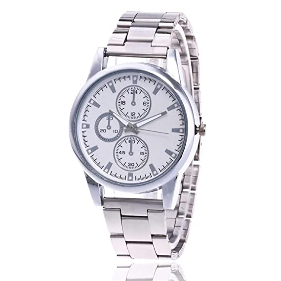 Amazon.com : Simple Women Watches Stainless Steel Analog Quartz Round Wrist Watches Bracelet Clock Ladies Watch Relojes para Mujer(H, 1) : Sports & Outdoors