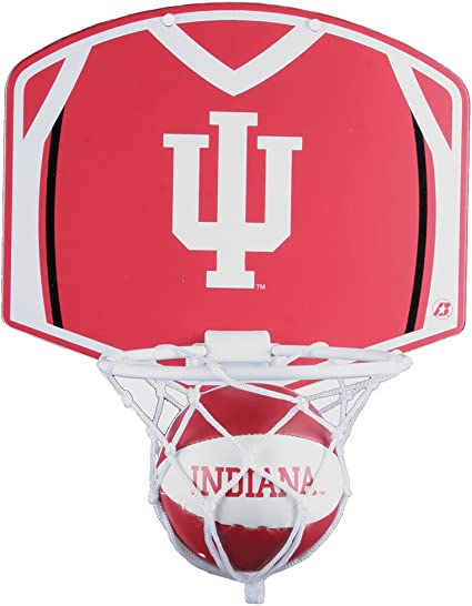 Amazon Com Indiana Hoosiers Mini Basketball And Hoop Set Sports Fan Toy Figures Sports Outdoors