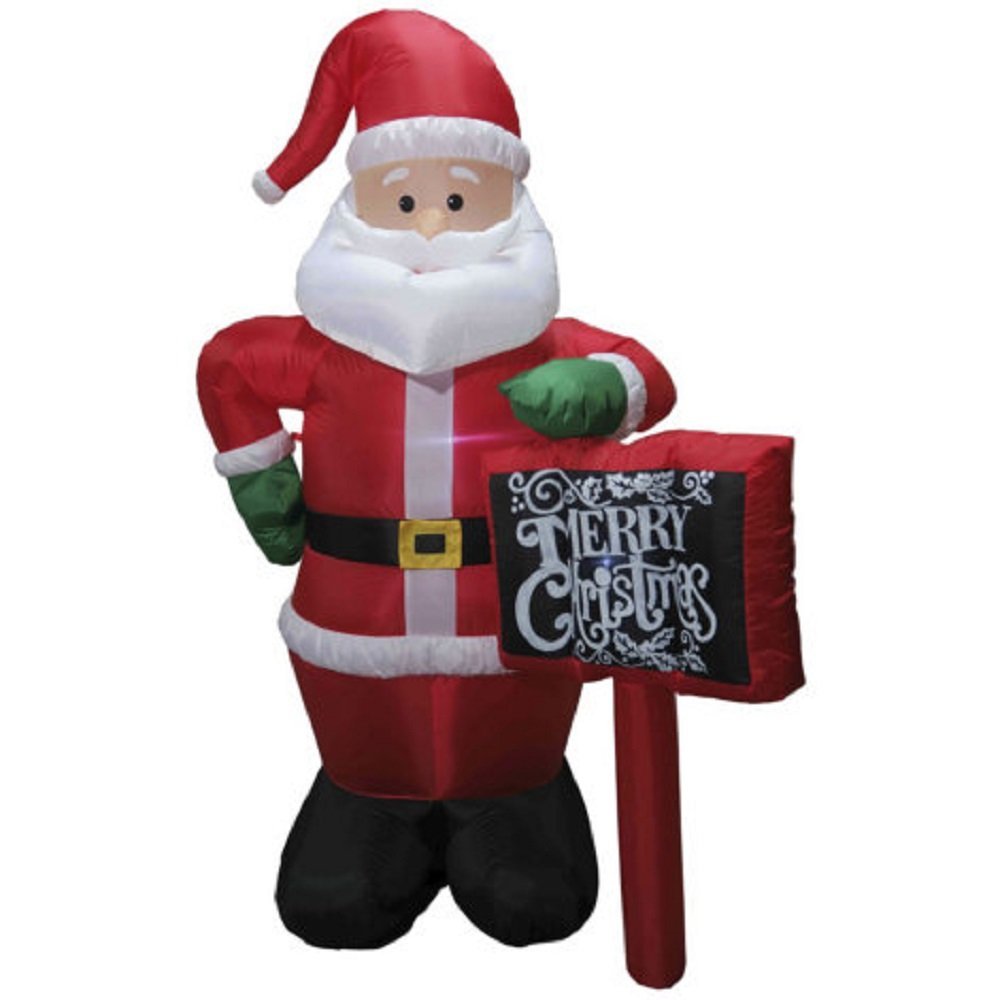 Christmas Inflatable 12' Santa w/ Merry Christmas Chalkboard Sign by CITI TALENT LTD