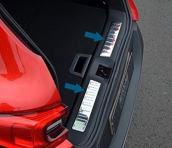 Steel Rear Bumper Protector Sill Plate Cover For 2016-2017 Renault KADJAR