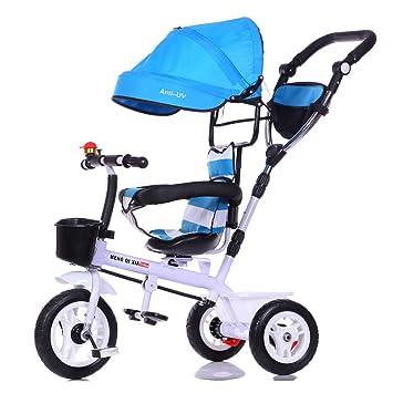 SJZC Carro De Bebe Triciclo Pedalear Ligero Asiento ...
