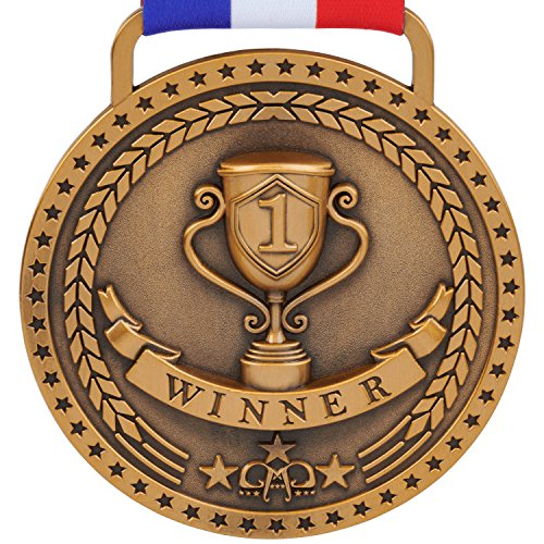 Prestige Palace Awards 1st Place Winner Gold Award Medal, Antique Gold -