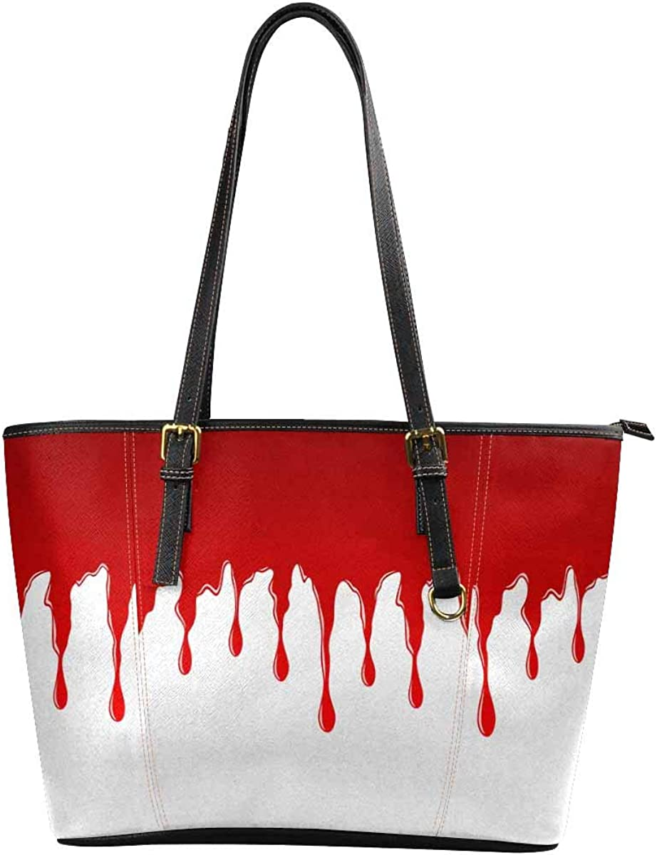 Funny Novelty Printed Womens Leather Handbags Shoulder Tote