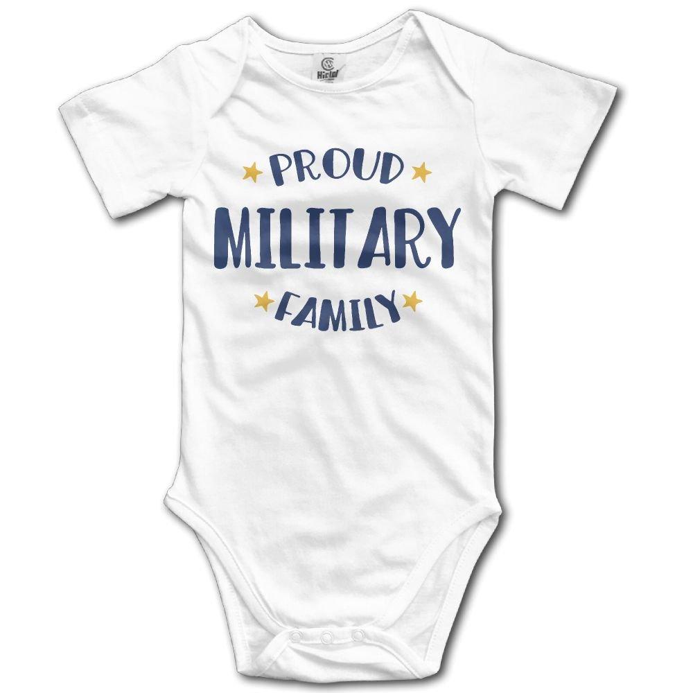 Proud Military Family Newborn Baby Sleeveless Jumpsuit Romper