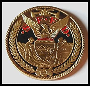 San Francisco Fire Department Firefighter Colorized Challenge Art Coin by HMC