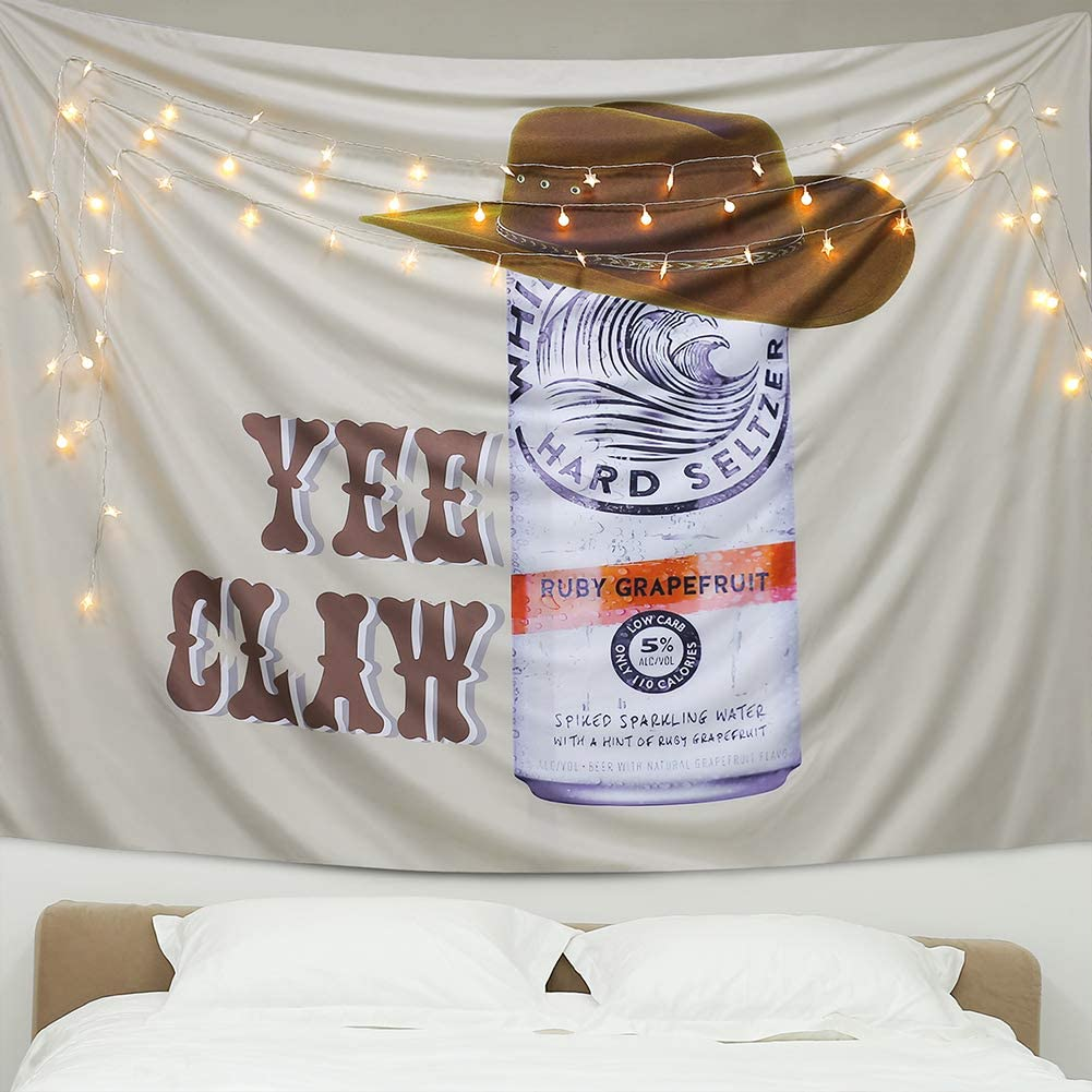 A AMEBAY Aamebay White Claw Tapestry Wall Hanging, Multifunctional Hippie Bohemian Wall Tapestry for Living Room Bedroom Dorm Decor Wall Blanket (200150CM)