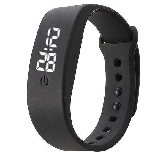 Toamen Hombres / mujeres de goma LED reloj de la fecha de deportes pulsera digital reloj de pulsera (A): Amazon.es: Relojes
