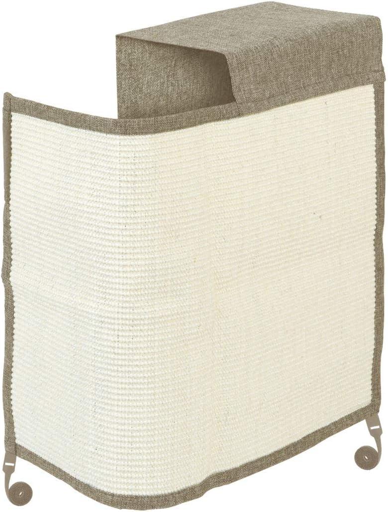 Navaris Rascador para Gatos - Protector para Esquina de sofá o sillón - Afilador de uñas de sisal para Mascotas - para el Lado Izquierdo en marrón