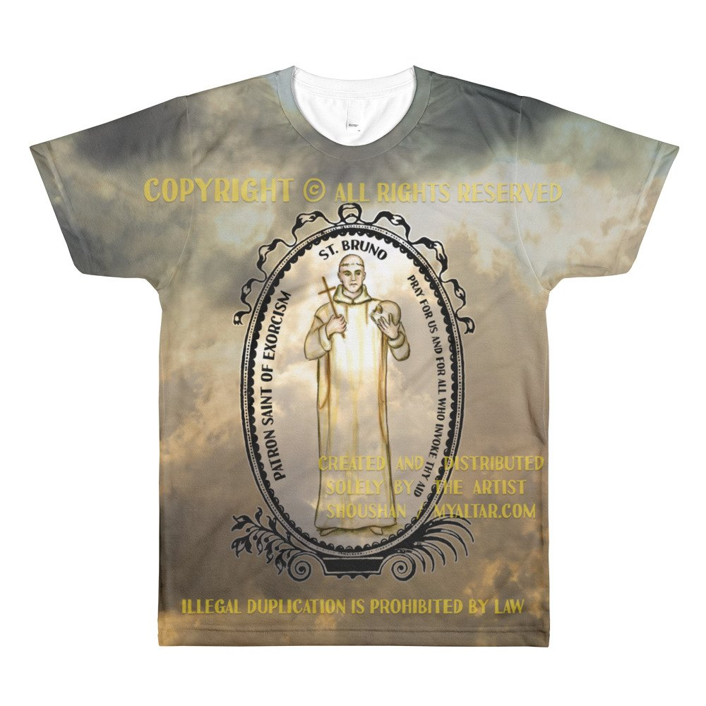 St Bruno Patron of Exorcism All Over Print Unisex Adult T-Shirt