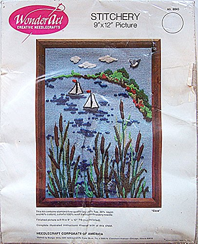 - WonderArt Stitchery Crewel Embroidery Picture Kit 6043 Cove