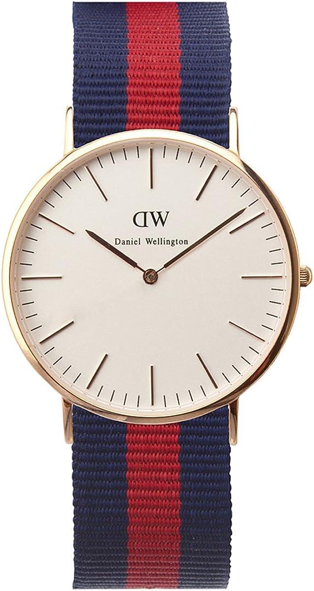 Daniel Wellington DW00100001 - Reloj de Pulsera para Hombre, Blanco/Plata