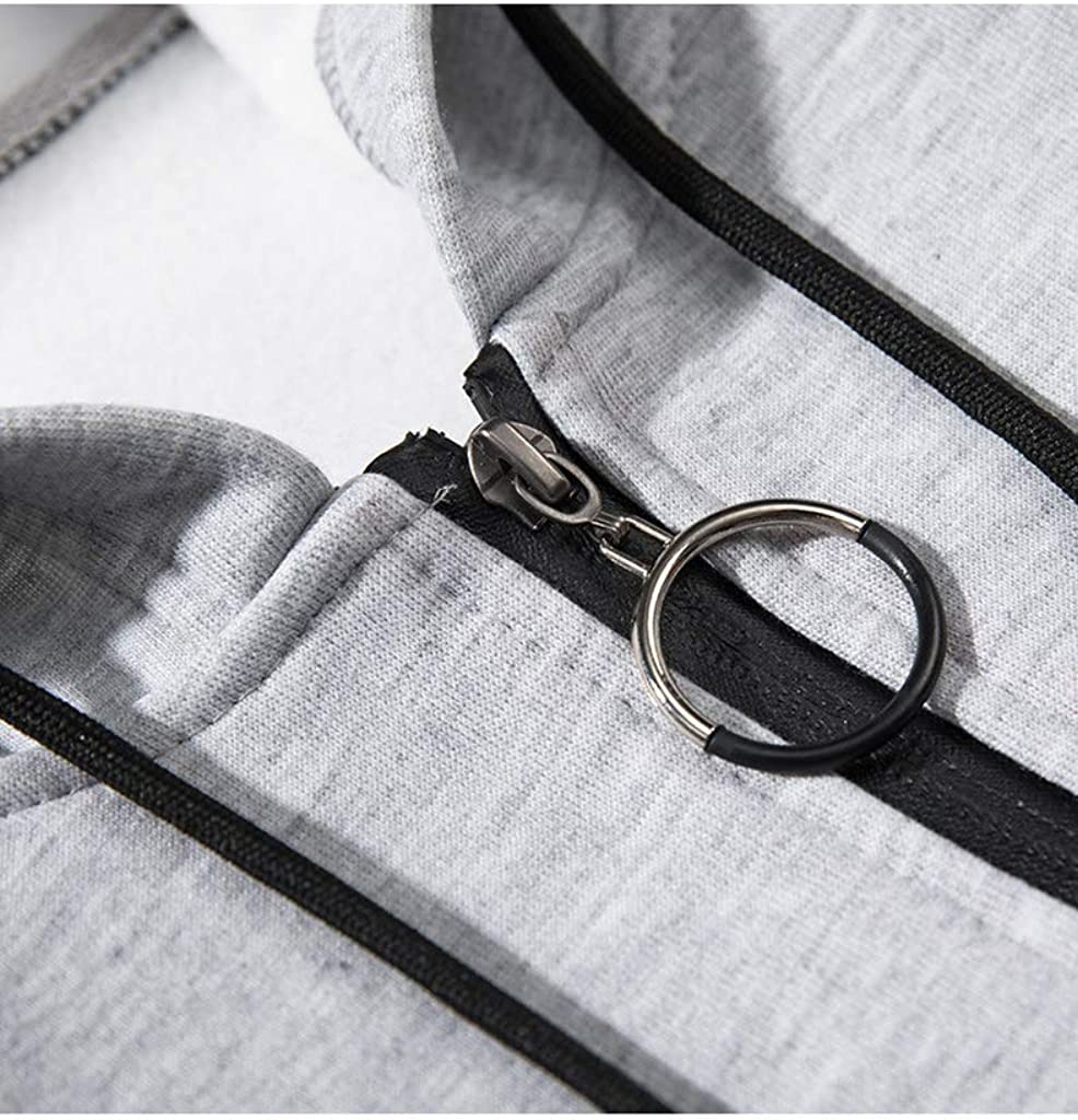 GLESTORE Sweat-Shirt /à Capuche Homme Manches Longues Hiver Slim Fit Noir Bleu Marron