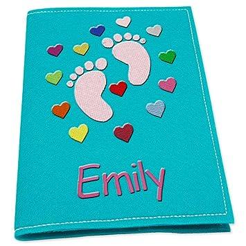 U de cuaderno Carcasa chica pies de bebé para nombre con ...