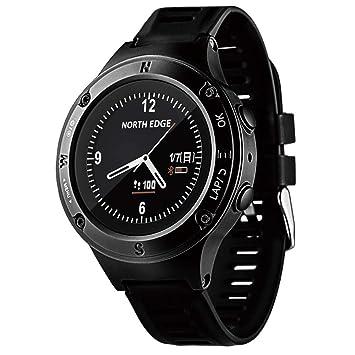 MCJL Reloj Inteligente, Reloj Deportivo Bluetooth Triatlón Monitor de Ritmo cardíaco Multifunción Deportes al Aire Libre Montañismo Brújula Altímetro ...