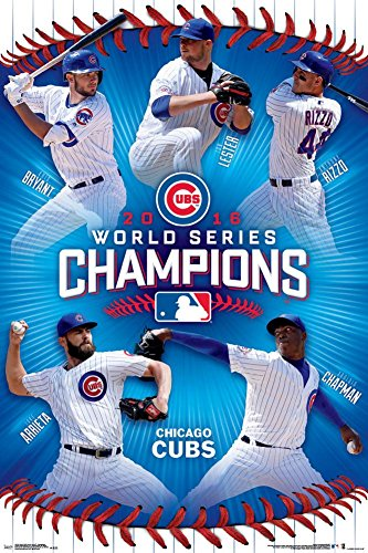 MLB: 2016 World Series Champs Poster 24 x (36 Champs Poster)