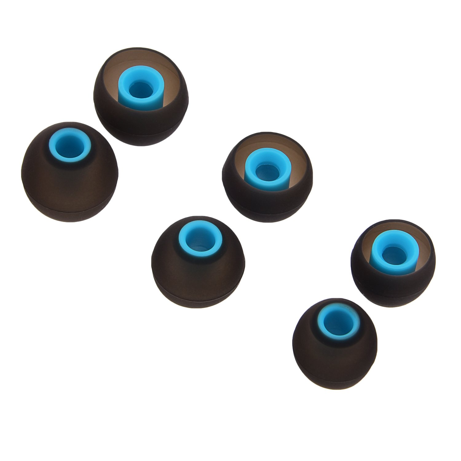 10 Clear FIXED Star 20 Pcs Medium Silicone Earbud Cap Tip Cover Replacement 10 Black