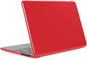 """mCover Hard Shell Case for Late-2019 13.3"""" Google Pixelbook Go Chromebook Laptop Computers (NOT Compatible Older Model Released Before 2019) laptops (PixelbookGo Red)"""