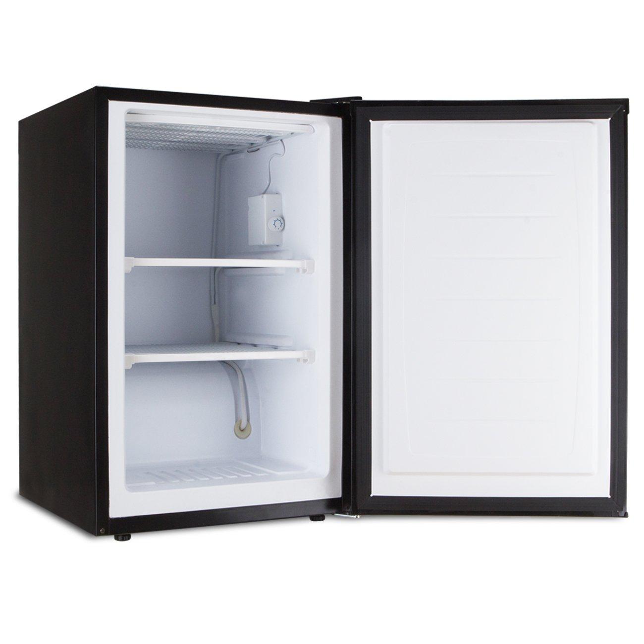 Midea stainless steel compact single reversible door upright freezers - Amazon Com Della Compact Freezer Upright Single Reversible Door 3 0 Cubic Feet Black Home Improvement