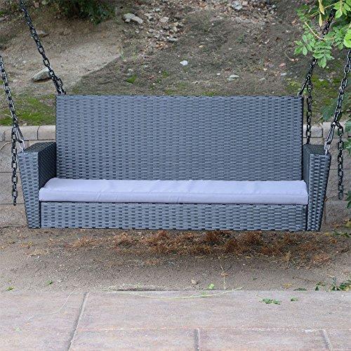 black resin wicker chair - 8