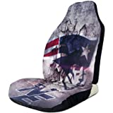ZKHAKLG New England Patriots Front Seat Cover Car Cushion Cover Fits Most Car Seat Covers