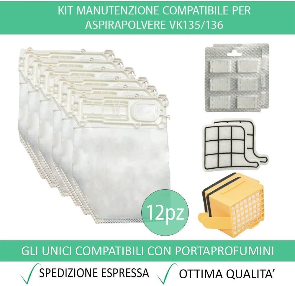 Compatibile Folletto VK 135 136 kit rigenerazione 2 anni