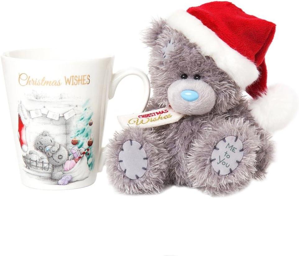 Me to You XGZ01005 Christmas Mug and Tatty Teddy Santa Bear Gift Set Ceramic