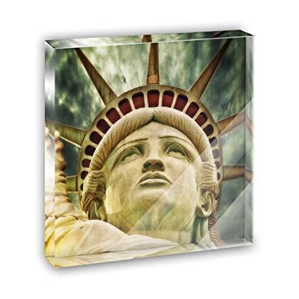 Liberty Is Lovely Lady >> Amazon Com Lovely Lady Liberty Acrylic Office Mini Desk Plaque