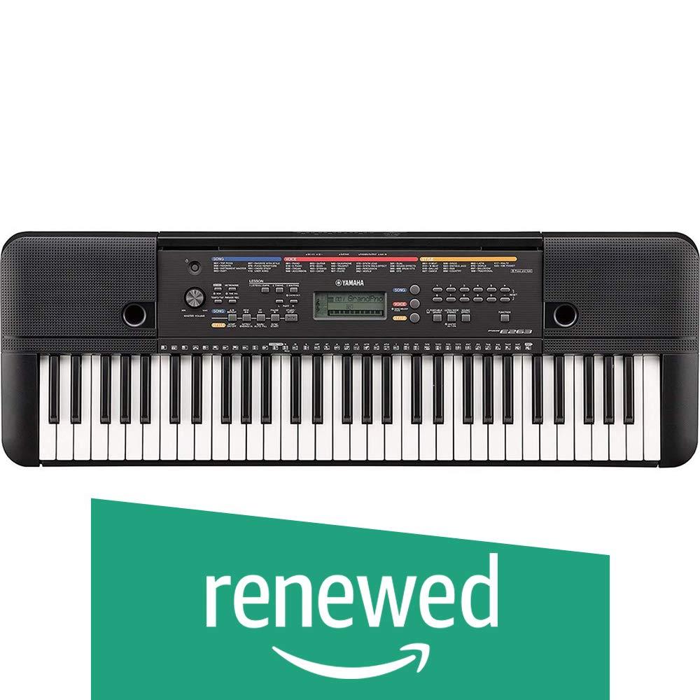 Yamaha PSR-E263 61-Key Portable Keyboard (Renewed)