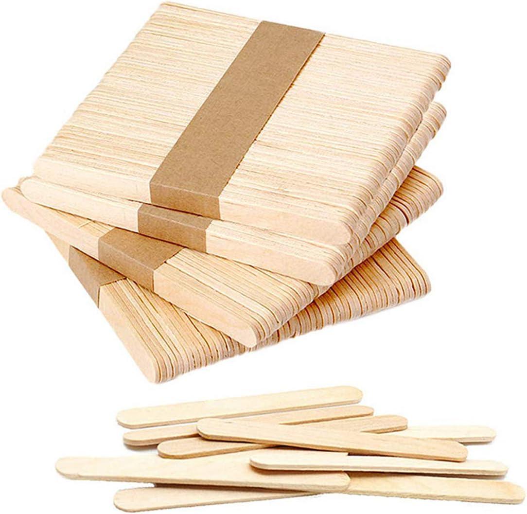 Popsicle Sticks, Food Grade 100% Natural Birch Wood Ice Cream Sticks, Eco-Friendly Wooden Craft Sticks, Reusable Ice Pop Sticks, DIY Crafting Popsicle Stick (100, 4.5inch)