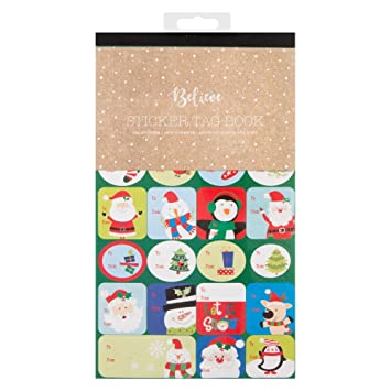104 christmas sticker gift tags amazon co uk office products