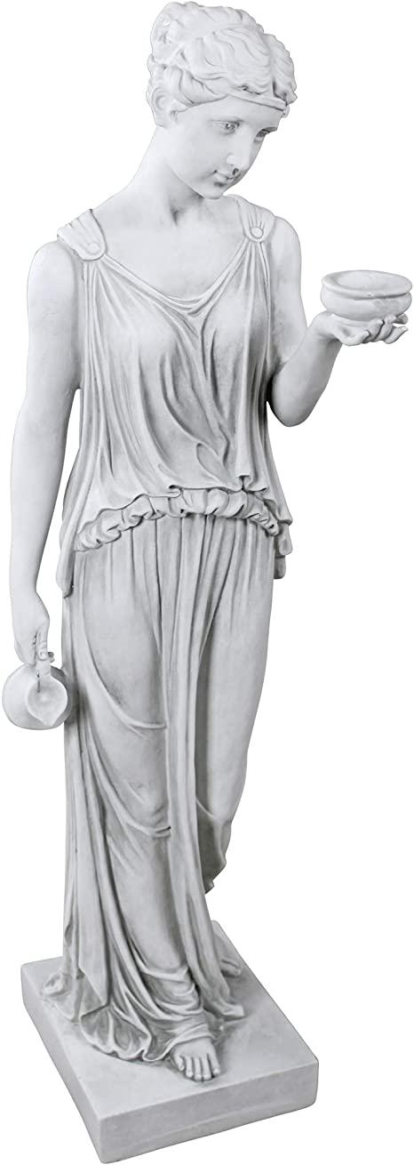 Amazon.com : Design Toscano KY71304 Hebe The Goddess of Youth Greek Garden Statue, Large 32 Inch, Antique Stone : Outdoor Statues : Garden & Outdoor