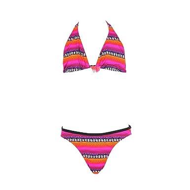 937cbdf0ee Maillot de Bain Enfant 2 pièces Triangle Rose Surf: Amazon.fr: Vêtements et  accessoires