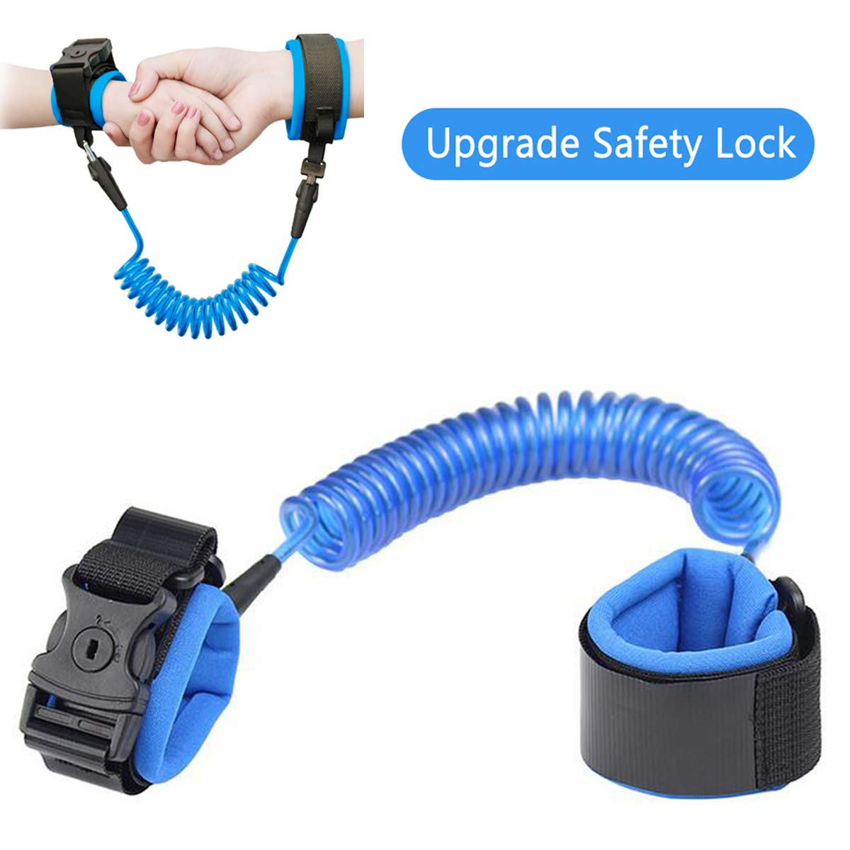 Upgrade Lock Version Safety Toddler Harness Leashes Child Safety Wristband Wrist Leash for Kids Toddlers 6.56ft Pink Anti Lost Wrist Link