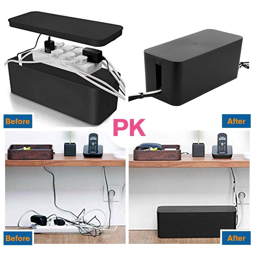 Amazon.com: Resulzon Cable Management Cord Cover Wire Hider Box ...