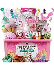 Original Stationery Ice Cream Fluffy Slime Kit Pluizige Slijm Kit voor Meisjes Alles in Één Doos om ijs Slimes te Maken - Maak Pluizig, Boter, Wolk en Schuim Slimes!