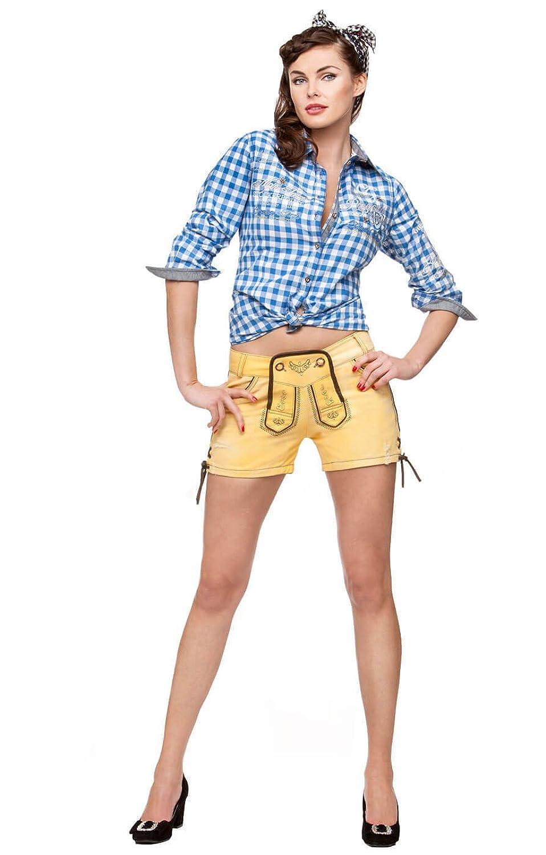 Stockerpoint Trachten Jeansshort kurz - Roxy - yellow sub