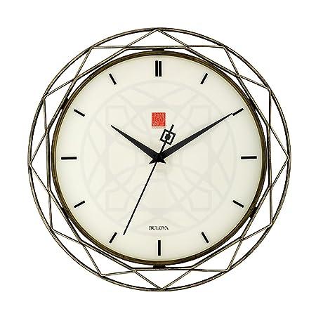 Bulova Frank Lloyd Wright Luxfer Prism Wall Clock, 14 , Bronze
