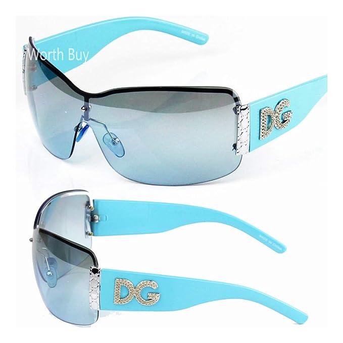 Amazon.com: DG - Gafas de sol sin borde de metal, diseño de ...
