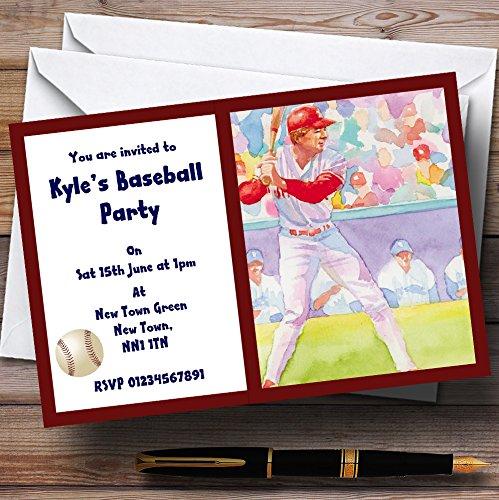 venta directa de fábrica 150 Invitations Béisbol personalizado invitaciones de de de fiesta  en venta en línea