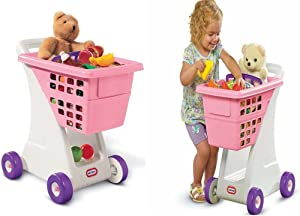 Trolley Toy Shopping Cart Grocery Store Basket Pretend Play Toddler Kids Gift