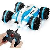 RC Fahrzeug - YED Ferngesteuerte Autos Amphibienfahrzeug, 1:12 4WD 2,4 GHz Dual-Mode Wasserdicht RC Autos, 360 Grad Drehung und LED-Beleuchtung RC Spielzeug für Kinder Erwachsene