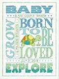 Dimensions Crafts Birth Record Counted Cross Stitch, About Boys