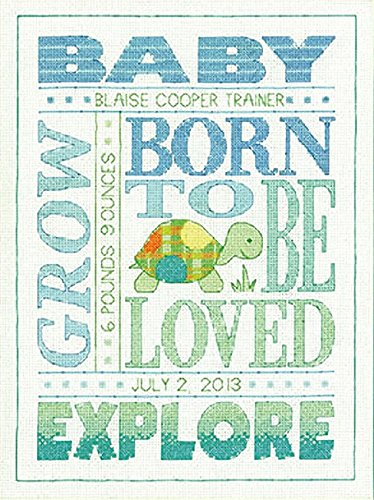 Dimensions Crafts Birth Record Counted Cross Stitch, About Boys by Dimensions Crafts