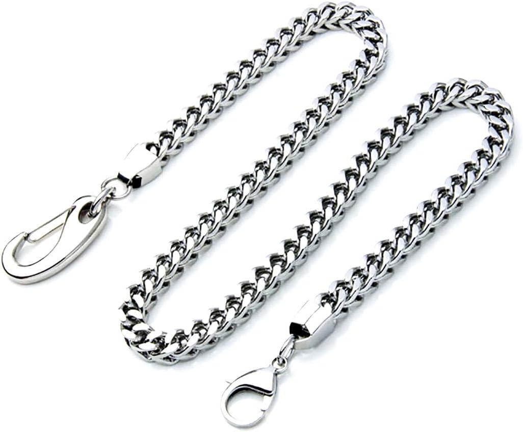 ZOYLINK Cadena de los pantalones de los hombres de moda creativa Punk Snap Hook pantalones cadena de cadena de la cartera