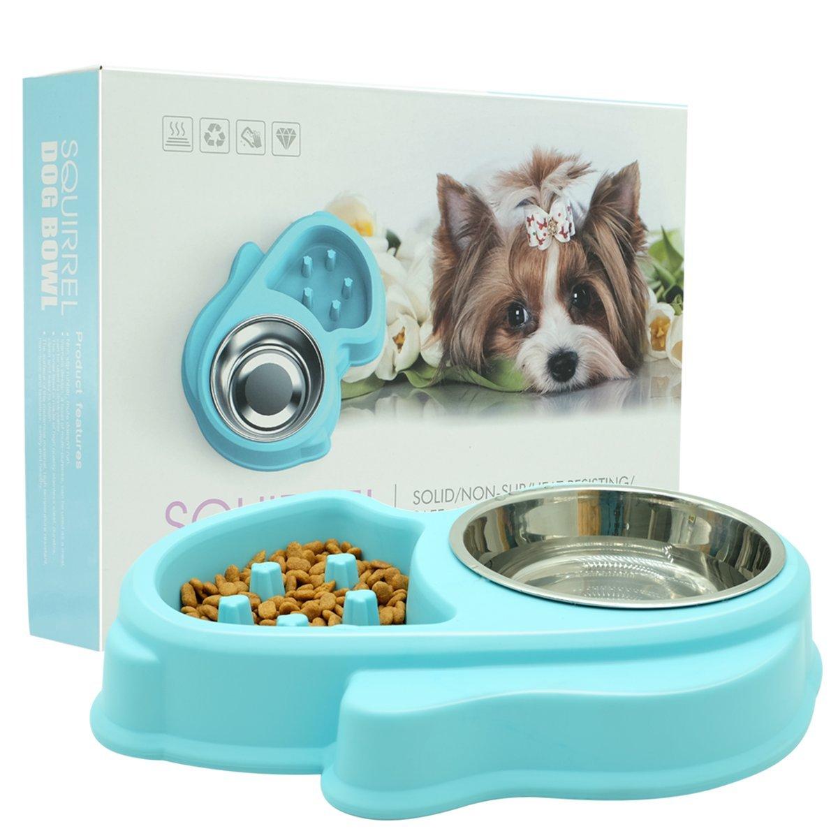 BOOMRO Slow Feeder Dog Bowl - Interactive Fun Slow Eating Bowl for Pets Health Bloat Stop Anti-Choking, Non-Toxic. Eco-Friendly Material (Small Dog Bowl Set)