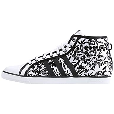new concept 55f15 8609a adidas Originals Women s Nizza Hi Sleek Shoe,White Black White,8.5 M