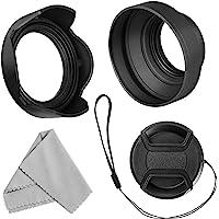 55 mm linsskydd set för Nikon D3400 D3500 D5500 D5600 D7500 DSLR kamera med AF-P DX 18-55 mm f/3,5-5,6G VR-objektiv…