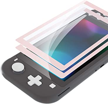 eXtremeRate 2 Protectores de Pantalla para Nintendo Switch Lite Protector de Pantalla de Vidrio Templado Transparente HD con Borde Colores Anti-arañazos,Anti-Huella,Inastillable,Sin Burbujas(Sakura): Amazon.es: Electrónica