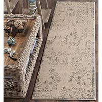 Safavieh Brilliance Collection BRL502B Cream and Light Blue Runner (22 x 8)